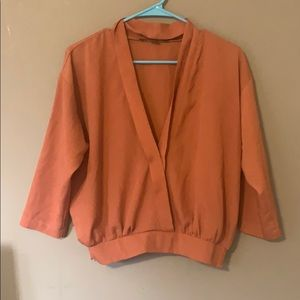 Forever 21 Burnt Orange Blouse Small